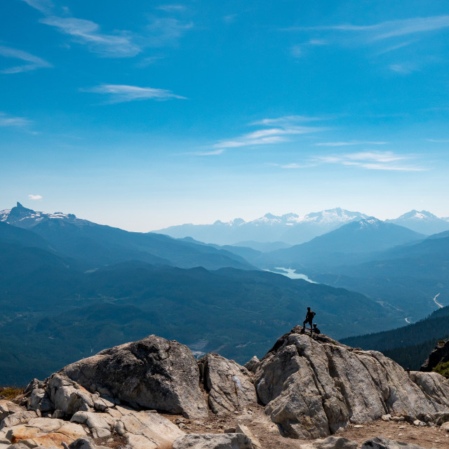 """Looking at the Black Tusk in Whistler BC"" stock image"