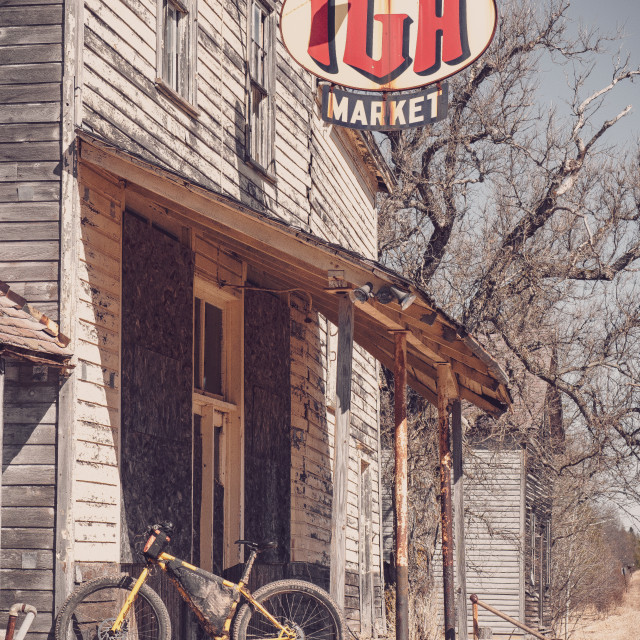 """Abandoned IGA"" stock image"