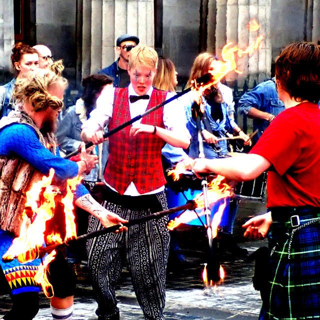 """""""Fire Dancers"""" stock image"""
