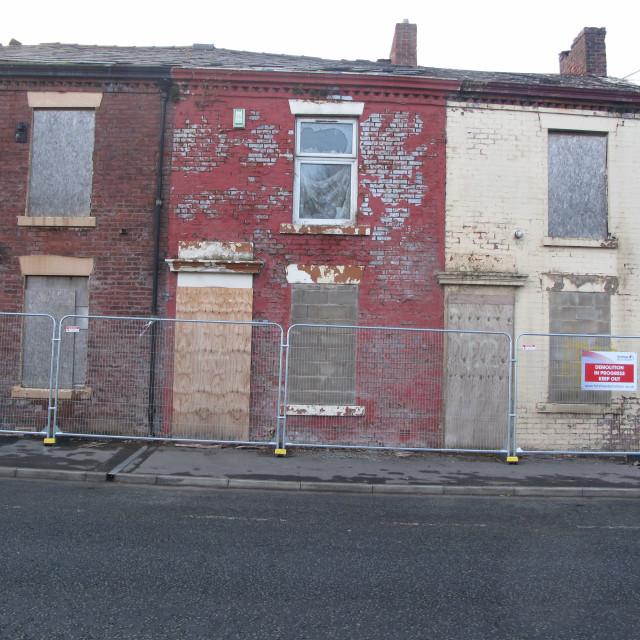 """Stanfeld Street, Blackburn"" stock image"