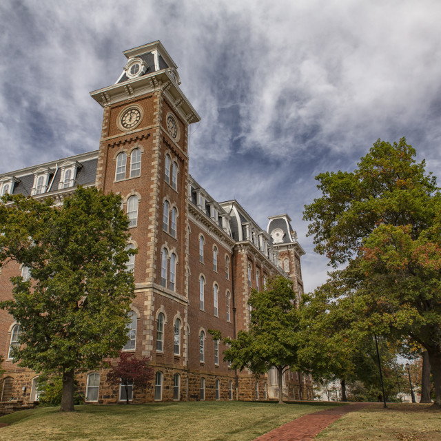 """Old Main at the University of Arkansas"" stock image"
