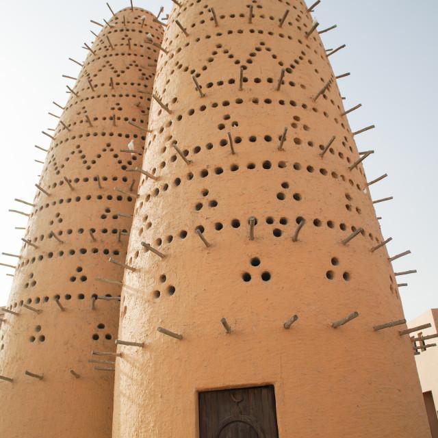 """Tradional bird nest tower"" stock image"