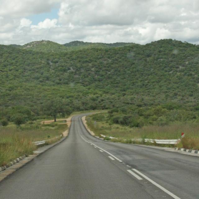 """The Road To Okahanja From Etosha In Namibia"" stock image"
