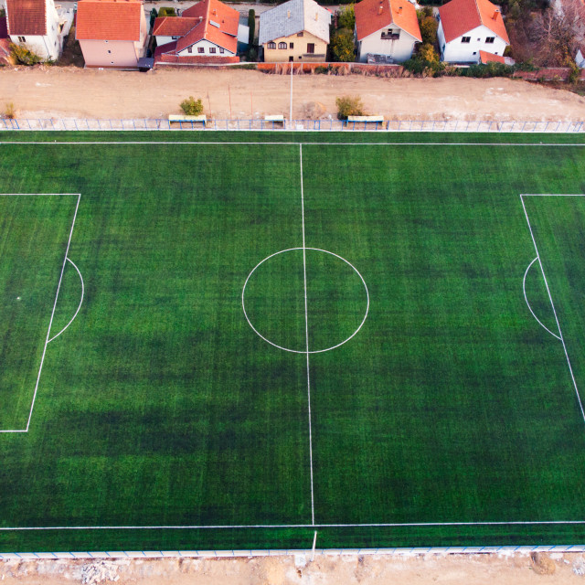 """""""Aerial view of a football field"""" stock image"""