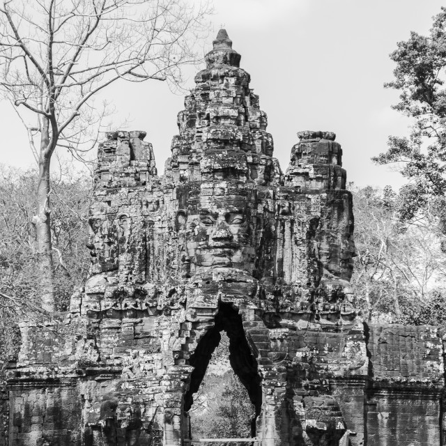"""South gate of Angkor Thom"" stock image"