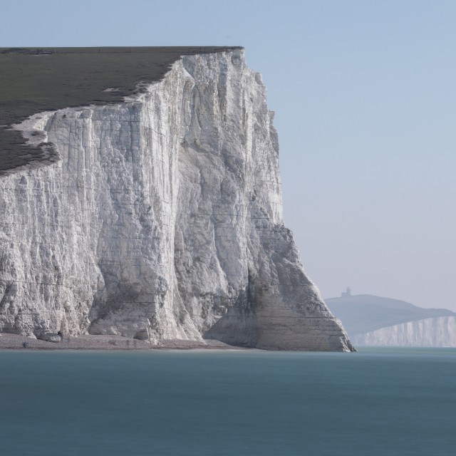 """""""White Cliffs - Seven Sisters"""" stock image"""