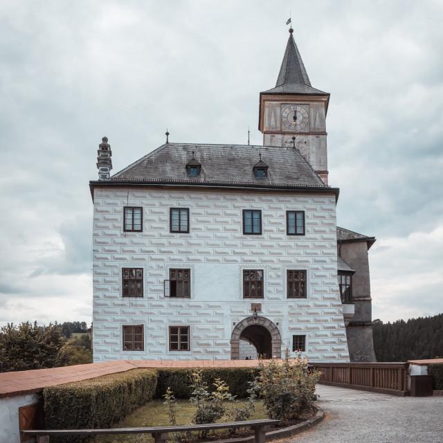 """Small castle Rozmberk on south of Czech republic"" stock image"