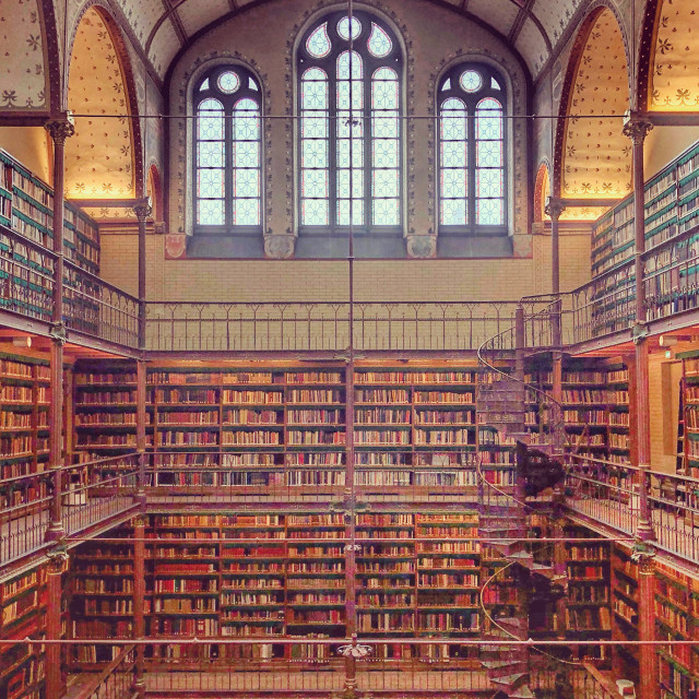 """The Rijksmuseum Library"" stock image"
