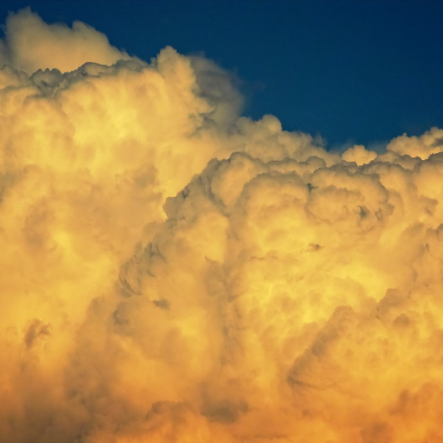"""""""Thunder Clouds Build in The Atmosphere at Sunset - Time Lapse"""" stock image"""