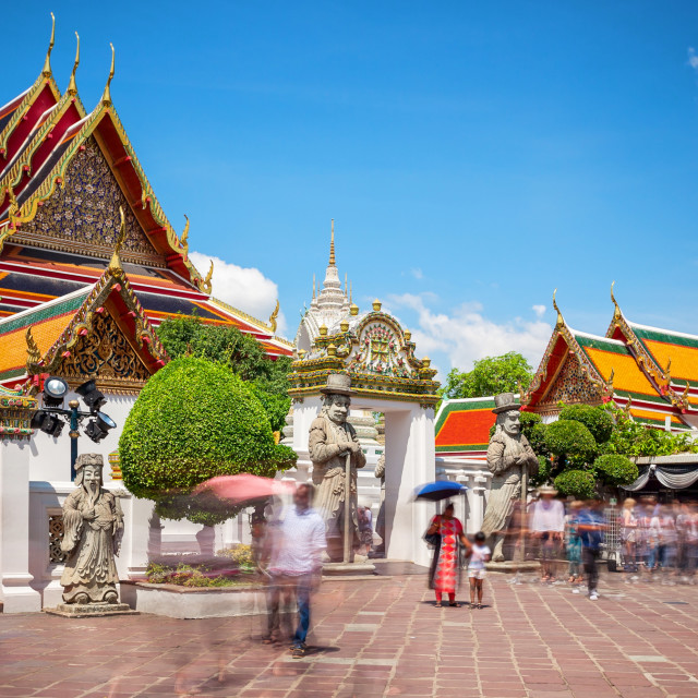 """""""Wat Pho Temple and Tourists in Bangkok, Thailand"""" stock image"""