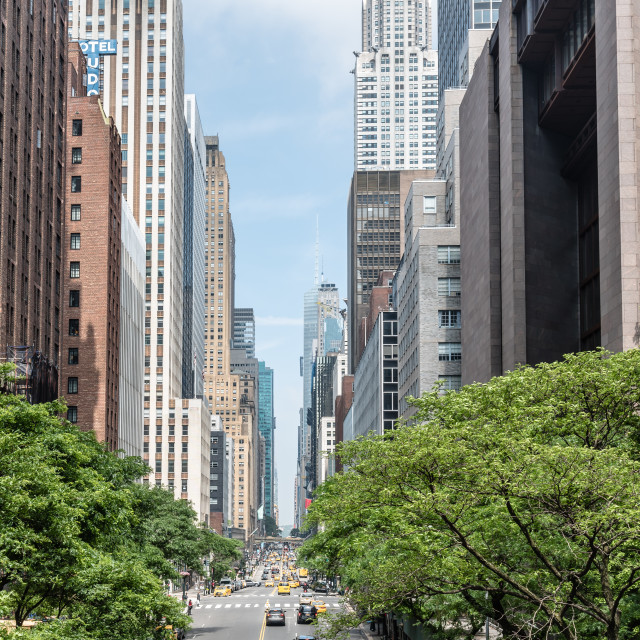 """High angle view of 42nd Street in New York"" stock image"