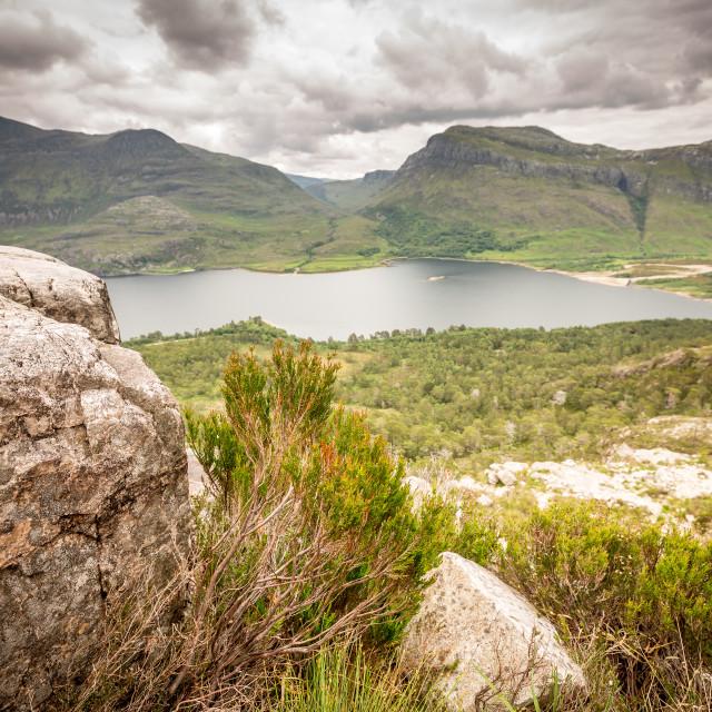 """Loch Maree, Weste Ross, Scotland. Beinn Eighe National Reserve"" stock image"