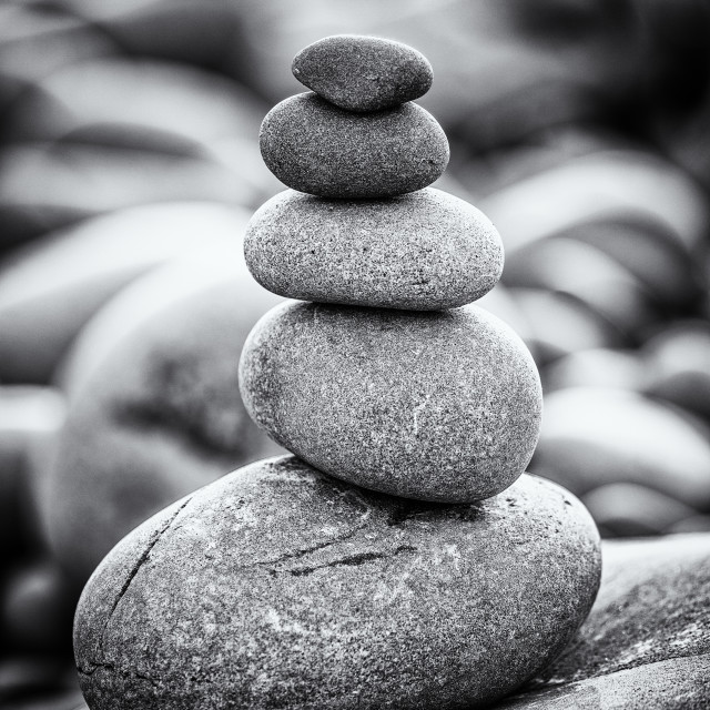 """Pebble stack"" stock image"