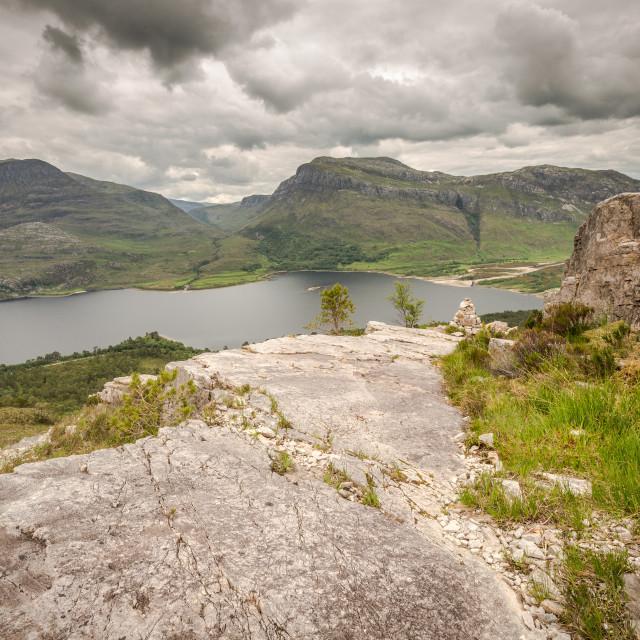 """Loch Maree, Weste Ross, Scotland"" stock image"