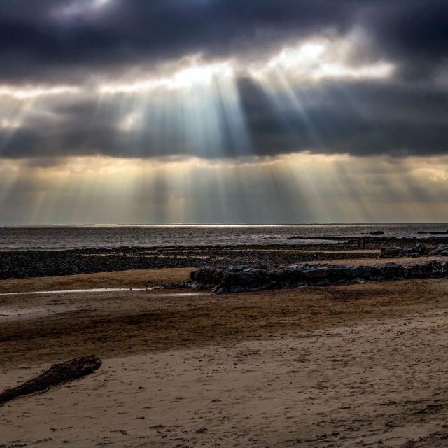 """""""Light show in Porthcawl in Wales."""" stock image"""