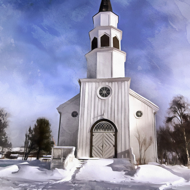 """Norwegian Church"" stock image"
