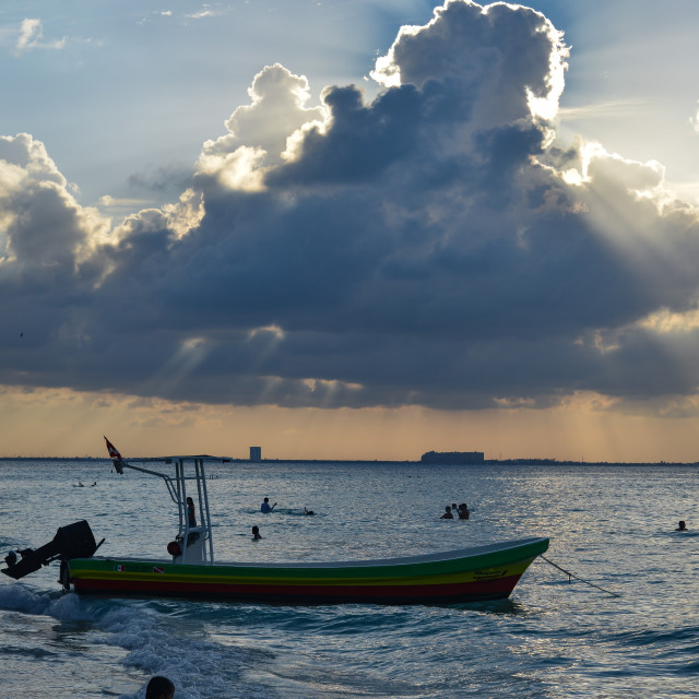 """""""Dramatic clouds - Isla Mujeres"""" stock image"""