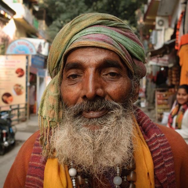 """""""Happy Sadhu"""" stock image"""