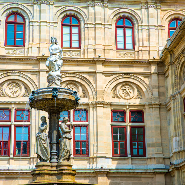 """Fountain at the Opera in Vienna"" stock image"