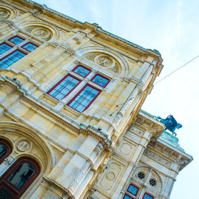 """Facade of the historic Opera in Vienna"" stock image"