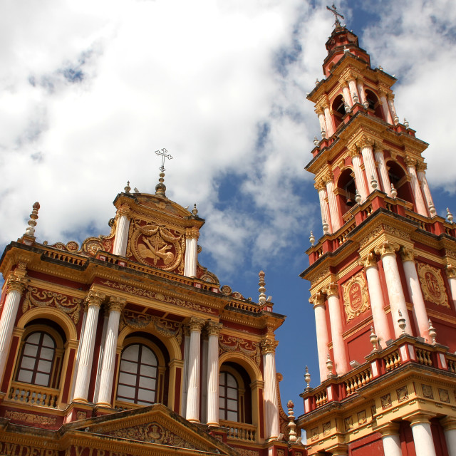 """Saint Francis Church in Salta"" stock image"