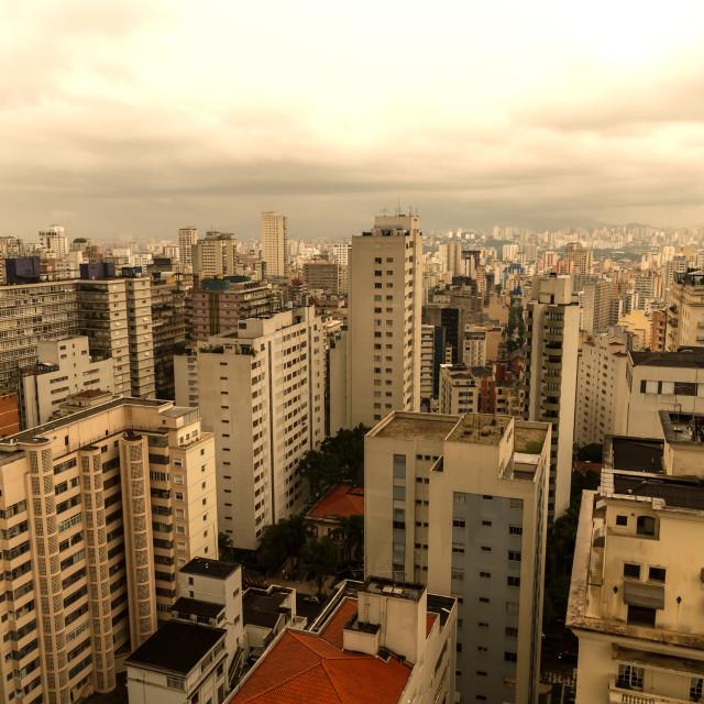 """""""Skyline of Sao Paulo"""" stock image"""
