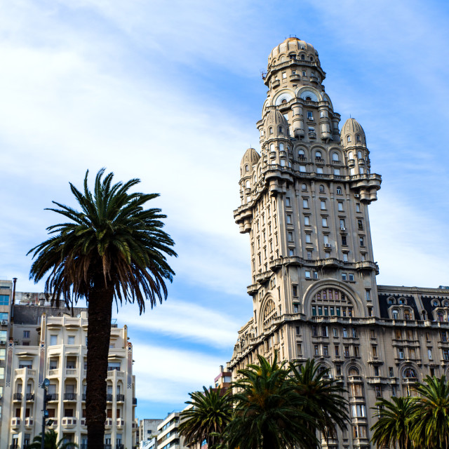 """Palacio Salvo in Montevideo"" stock image"