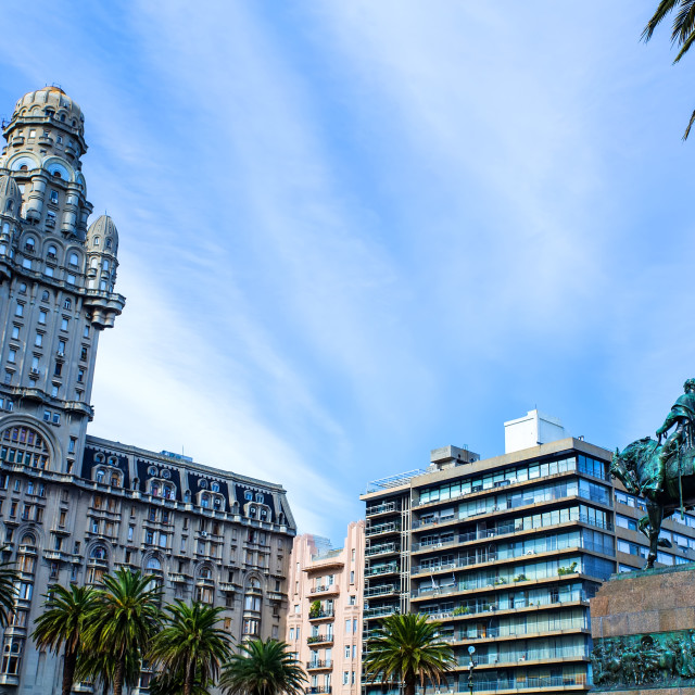 """View over the Plaza Independencia in Montevideo"" stock image"
