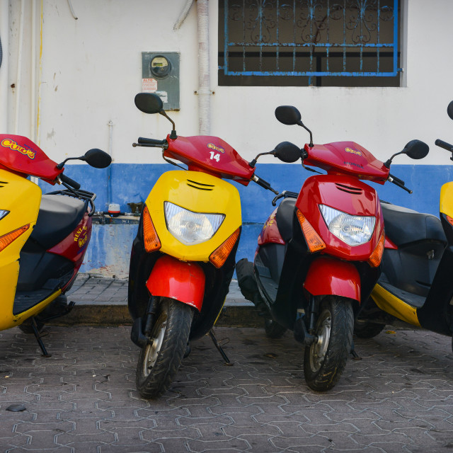 """""""Scooters for rent - Mexico"""" stock image"""