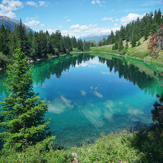 """""""Valley of Five Lakes"""" stock image"""