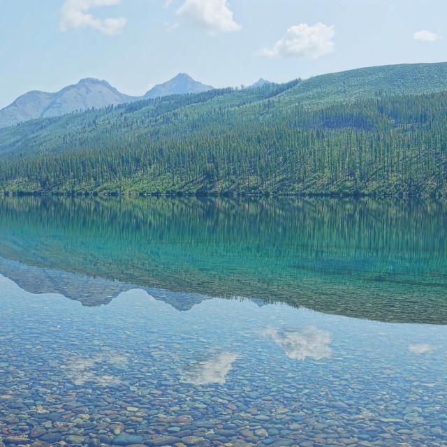"""""""Kitna Lake Glacier National Park"""" stock image"""