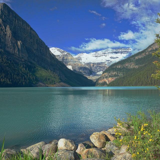 """Lake Louise Banff National Park"" stock image"