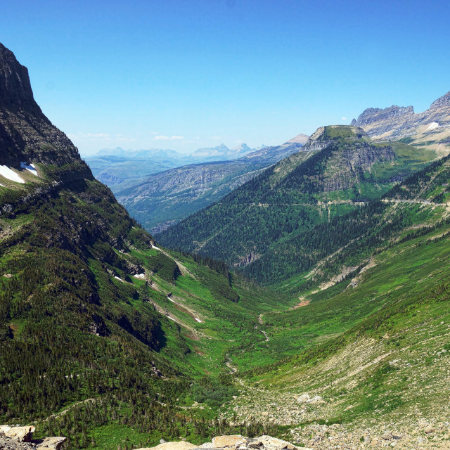 """Logan Pass Glacier National Park"" stock image"