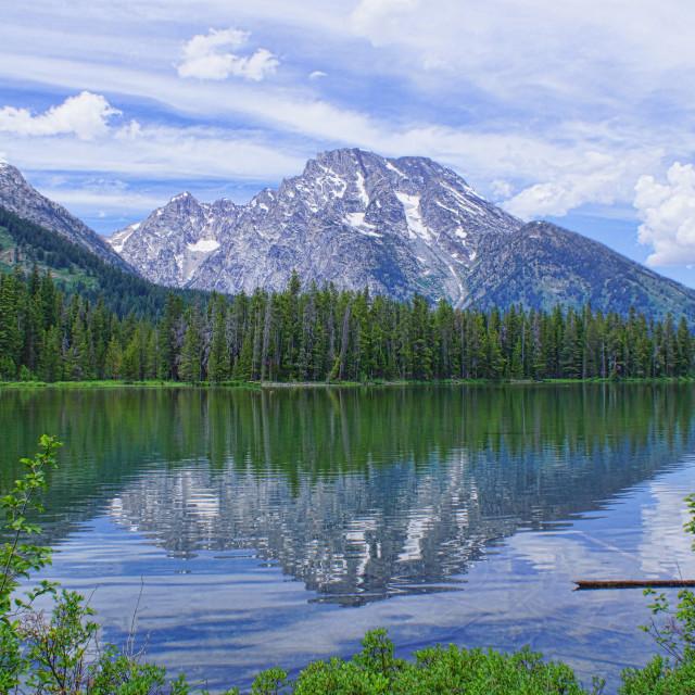 """Taggert Lake in Grand Tetons National Park"" stock image"