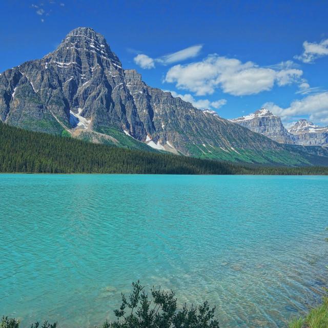 """Waterfowl Lake in Banff National Park"" stock image"