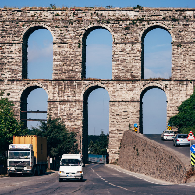 """The Ancient Roman Water Aqueduct"" stock image"