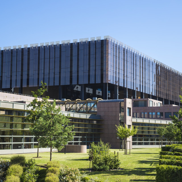 """""""Luxembourg, Luxembourg City, Kirchberg, The European Court of Justice"""" stock image"""