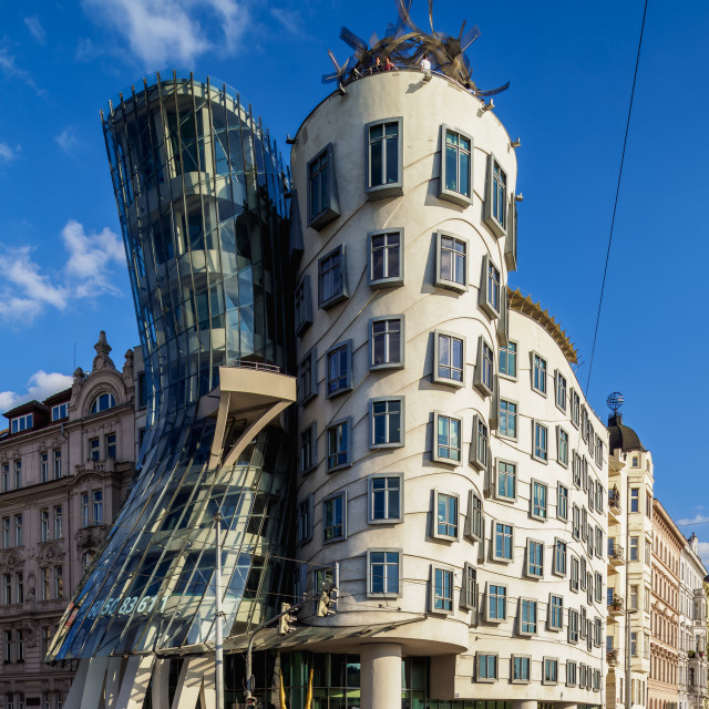 """Dancing House, Nove Mesto, New Town, Prague, Bohemia Region, Czech Republic"" stock image"
