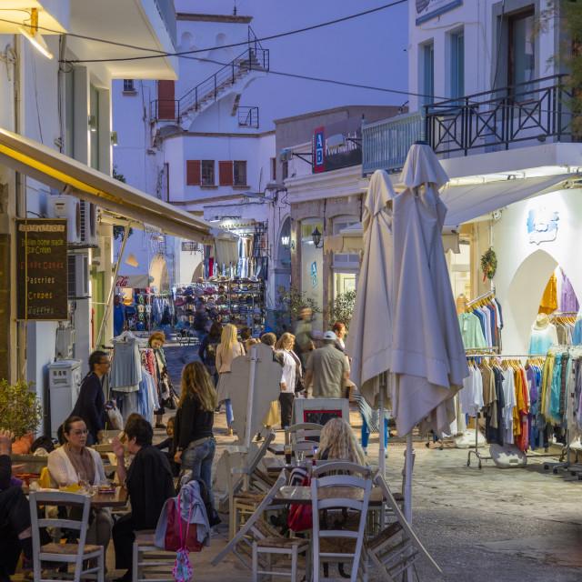 """SkalaIsle of Patmos, Dodecanese, Greece"" stock image"