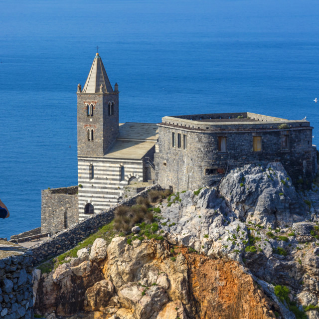 """Church of S. Pietro,Portovenere, Liguria, Italy"" stock image"