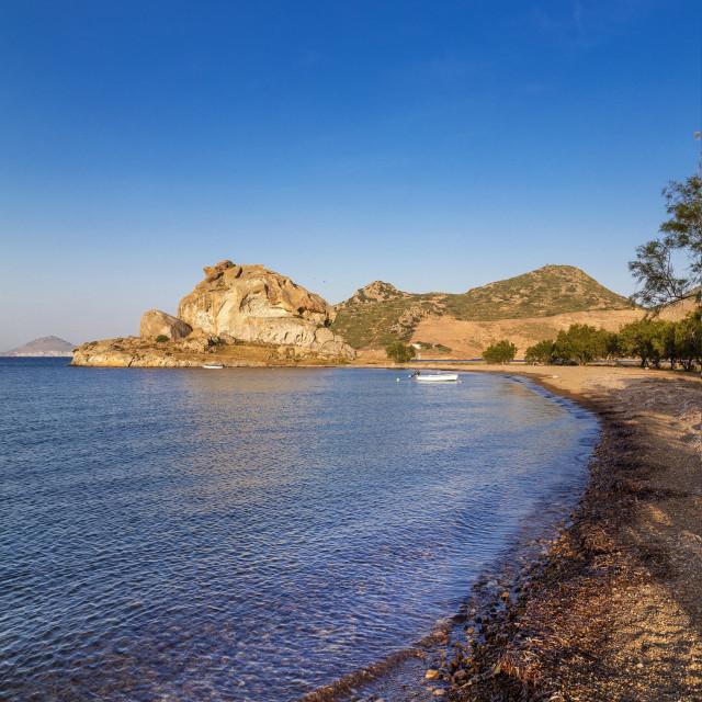"""Petra Beach, Patmos, Dodecanese, Greece"" stock image"