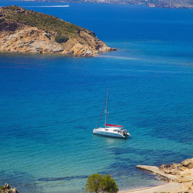 """Nekrothalassa beach. Patmos, Dodecanese, Greece"" stock image"