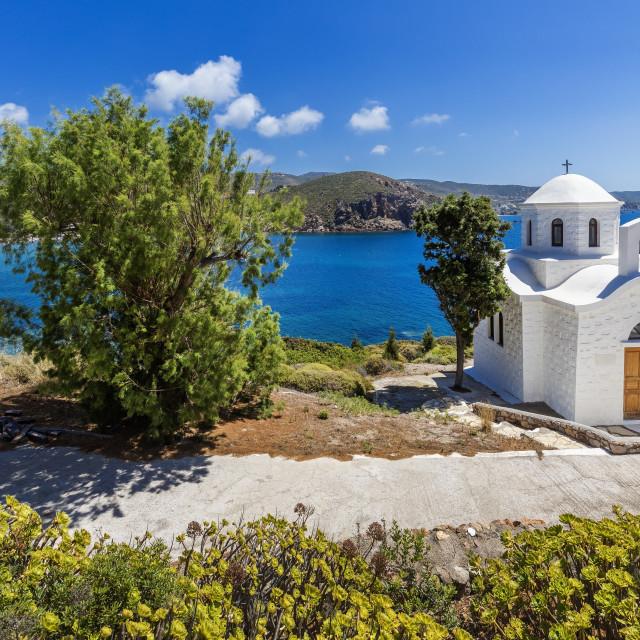 """Kambos Beach, Patmos, Dodecanese, Greece"" stock image"