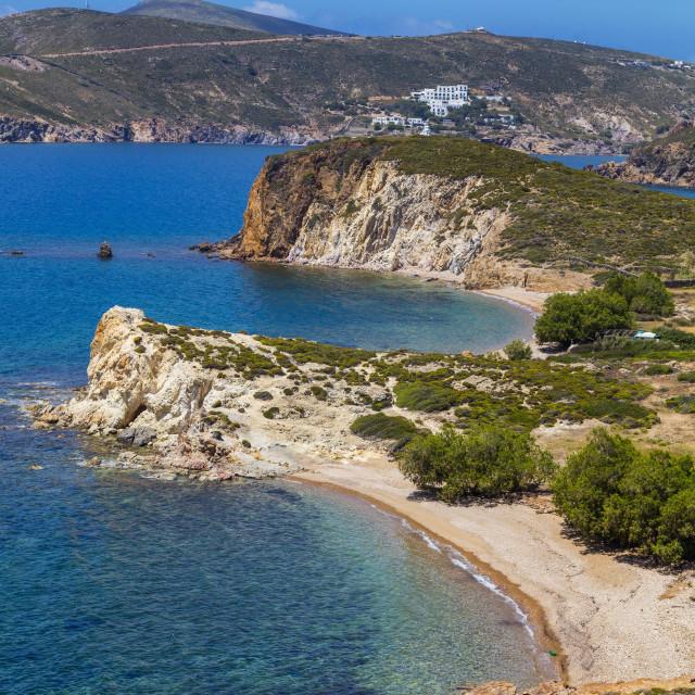 """Livadi Liginou Beach, Patmos, Dodecanese, Greece"" stock image"