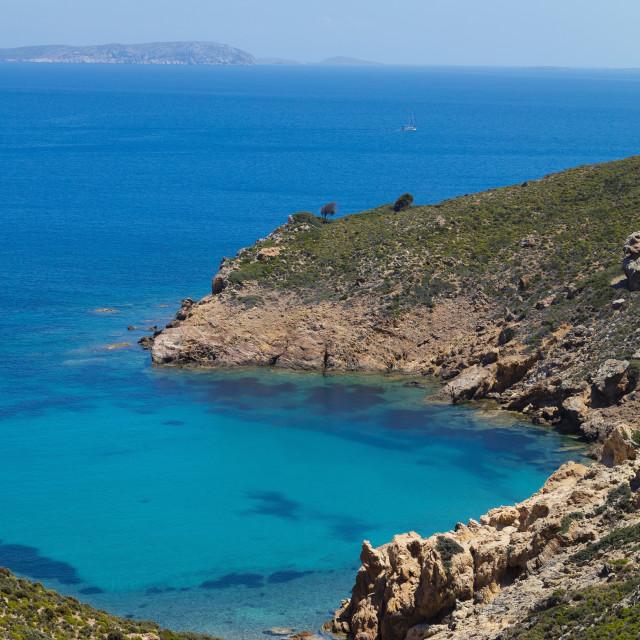 """Lemonou coast, Patmos, Dodecanese, Greece"" stock image"