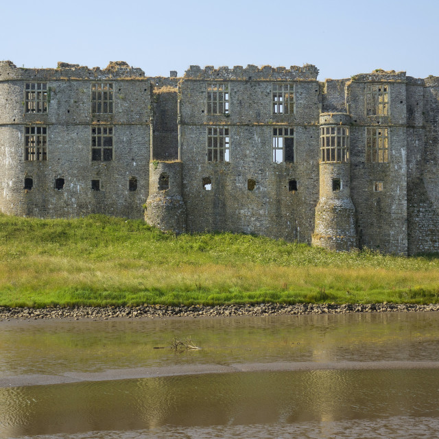 """Carew castle, Pembrokeshire, Wales"" stock image"