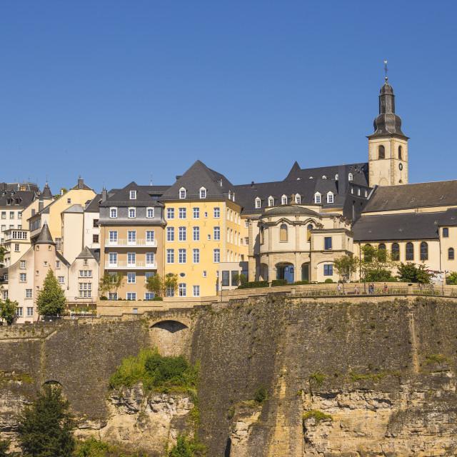 """""""Luxembourg, Luxembourg City, The Corniche (Chemin de la Corniche)"""" stock image"""