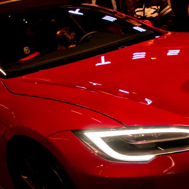 """Testla car"" stock image"