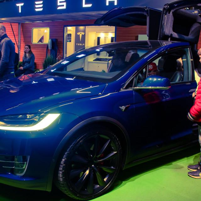 """Tesla Car"" stock image"