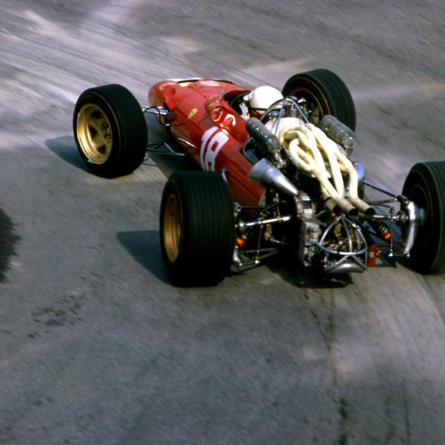 """Monaco GP 1967 Lorenzo Bandini Ferrari befor his fatal crash"" stock image"